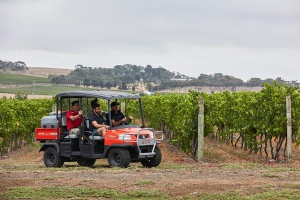 Kubota RTV Working in Vineyard