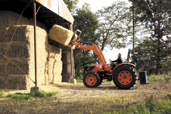 Kubota M Series Hay Stacking