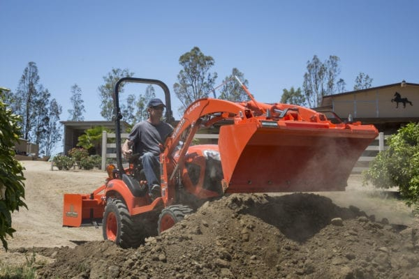 Kubota BX Tractor with Bucket