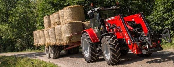 Massey Ferguson 5700 Carting Hay